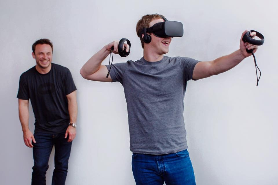 Oculus VR Headset worn by Facebook CEO