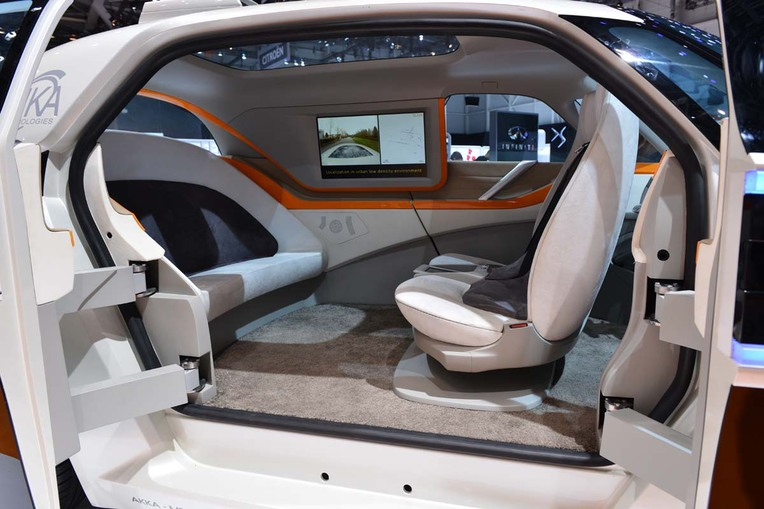 google self driving car- interior